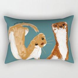 Funny Weasel ( Mustela nivalis ) Rectangular Pillow