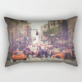 Down the Avenue Rectangular Pillow