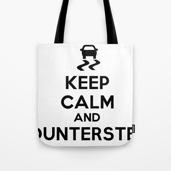 Keep Calm and Countersteer Tote Bag