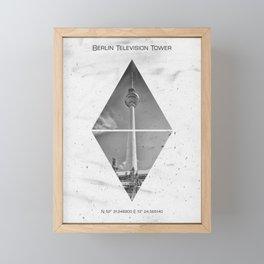 Coordinates BERLIN Television Tower Framed Mini Art Print