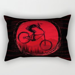 Red Moon Bike Rectangular Pillow