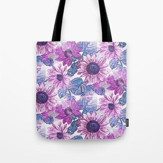 Dusty Pink Flowers Tote Bag