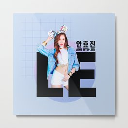 EXID LE AHN HYO-JIN  Metal Print