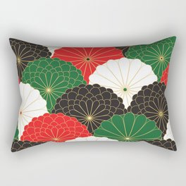 Japanese Chrysanthemum Rectangular Pillow