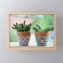 Fat Plants Pots Plant Framed Mini Art Print