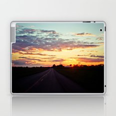Sunset Country Road Pink and Purple sky Laptop & iPad Skin
