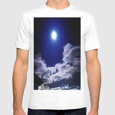 Signs in the Sky Collection I- in its original deep blue Mens Fitted Tee White MEDIUM