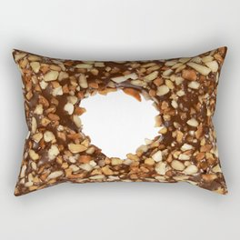 Overfill milk chocolate doughnut Rectangular Pillow