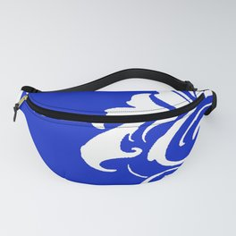 Damask Blue and White Fanny Pack