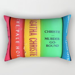 Rainbow Agatha Murder Books Rectangular Pillow