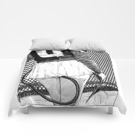 asc 847 - La spectatrice particulière (You'll find me at the edge of the playfield) Comforters