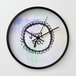 puerta project: just go  Wall Clock
