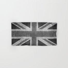 Union Jack Vintage 3:5 Version in grayscale Hand & Bath Towel