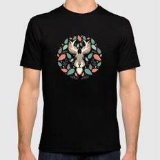 Jackalope  Mens Fitted Tee MEDIUM Black