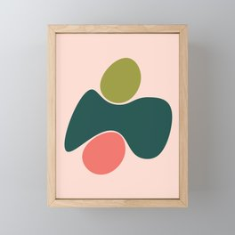 Living Coral Abstract 7 Framed Mini Art Print