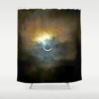 rothko Shower Curtains featuring Solar Eclipse 2 by Aaron Carberry