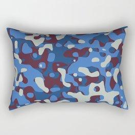 Blue & Burgandy Camo Pattern Rectangular Pillow