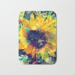 Sunflower Batik Bath Mat