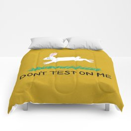 Don't Test On Me Comforters