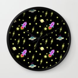 Cosmic pattern Wall Clock