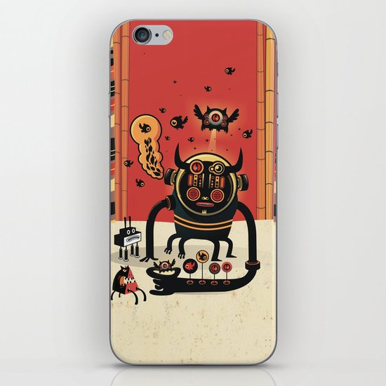 Insect catcher iPhone & iPod Skin