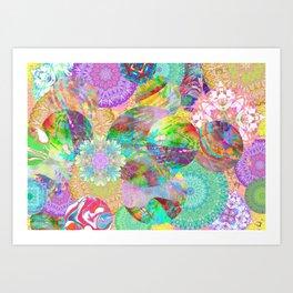 Rainbow Mandala Magic Art Print