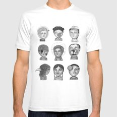 Crazy Heads MEDIUM Mens Fitted Tee White