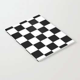 Black & White Checker Checkerboard Checkers Notebook
