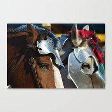 Jousting Horse - Armored Pair Canvas Print