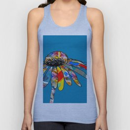 The unusually Conflower Unisex Tank Top