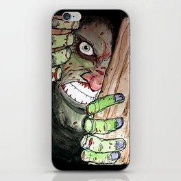 zombie breaking in iPhone Skin