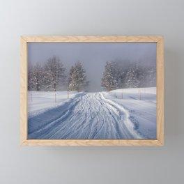Yellowstone National Park - Road to Mud Volcano Framed Mini Art Print