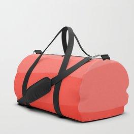 Diagonal Living Coral Gradient Duffle Bag