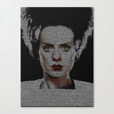 The Bride of Frankenstein Screenplay Print Canvas Print
