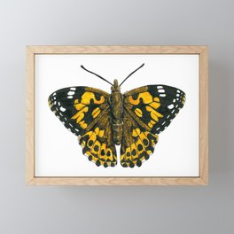 Painted lady butterfly Framed Mini Art Print