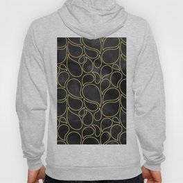 BLACK AND GOLD DROPS MARBLE Hoody