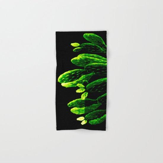 luminous cactus Hand & Bath Towel