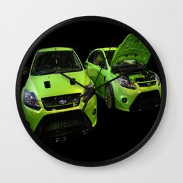 Two Green Focus RS Wall Clock