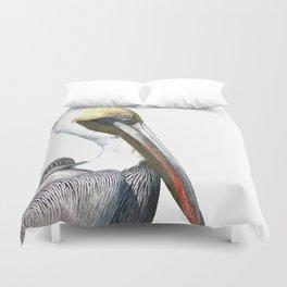 Pelican Portrait Duvet Cover