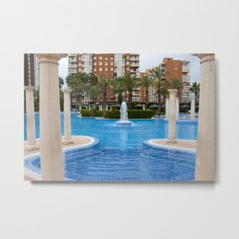 Solana Hotel Swimming Pool Benidorm Spain Metal Print