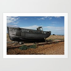 Boat off Course Art Print