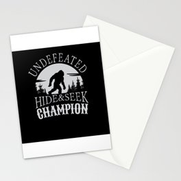 Undefeated Hide & Seek Champion Bigfoot Stationery Cards