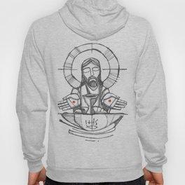Jesus Christ Eucharist illustration Hoody