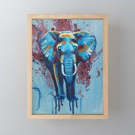 Here stands the Elephant Framed Mini Art Print