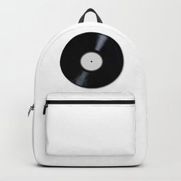 White Record Label Backpack