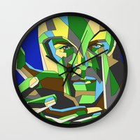magneto Wall Clocks featuring Magneto by Liam Brazier