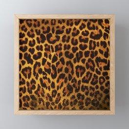 Glitter Leopard Print Framed Mini Art Print