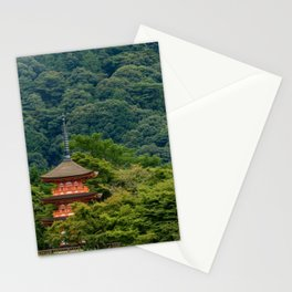Japanese forest temple Stationery Cards