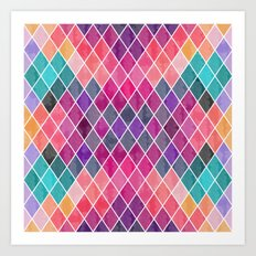Watercolor Geometric Pattern Art Print