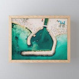 Life's A Beach, Enjoy The Waves   Aerial Print   Beach Print   Waves Art Print   Modern Wall Art Framed Mini Art Print